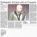 Embajador del jazz está en Usaquén